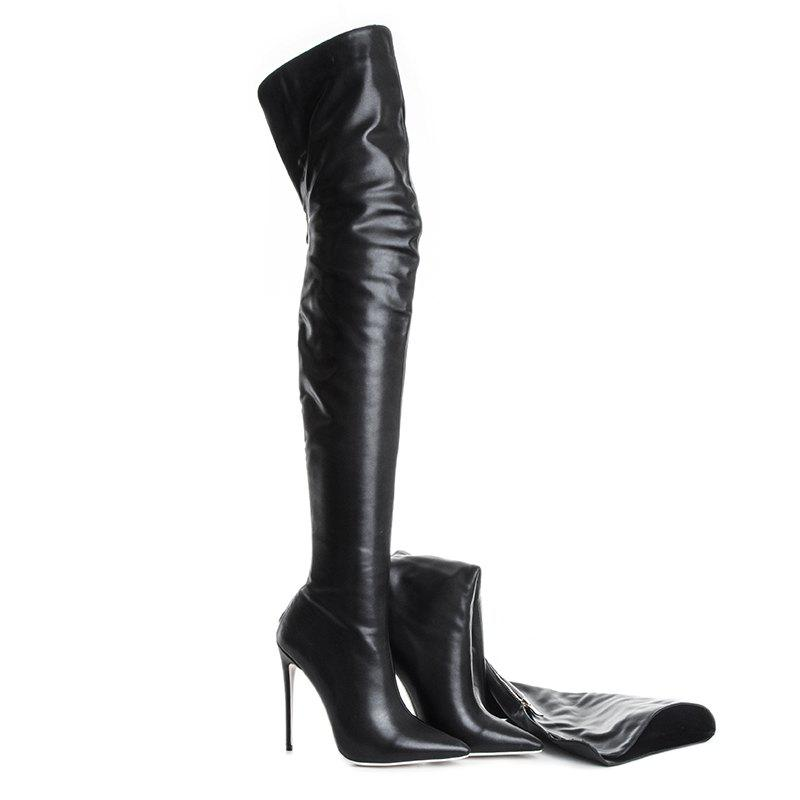 Unique Women'S Shoes PU Fall Winter Fashion Boots Boots Stiletto Heel Pointed Toe Over The Knee Boots