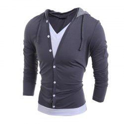 Men'S Casual Daily Hoodie Solid Hooded Micro Elastic Polyester -