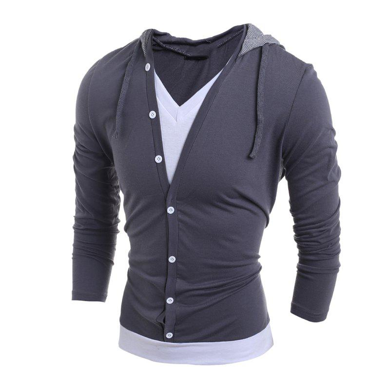 Outfits Men'S Casual Daily Hoodie Solid Hooded Micro Elastic Polyester