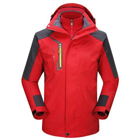 Cheap 2017 autumn and winter new two-piece jacket three-in-one waterproof plus cashmere outdoor jacket mountaineering jacket
