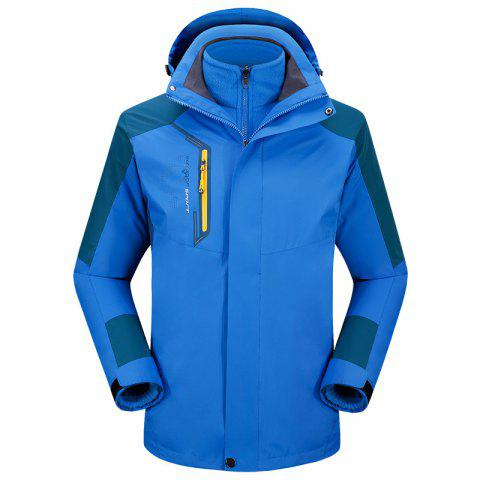 Discount 2017 autumn and winter new two-piece jacket three-in-one waterproof plus cashmere outdoor jacket mountaineering jacket