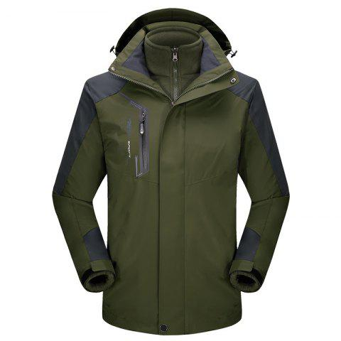 Hot 2017 autumn and winter new two-piece jacket three-in-one waterproof plus cashmere outdoor jacket mountaineering jacket
