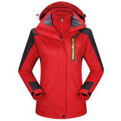 2017 autumn and winter new two-piece jacket three-in-one waterproof plus cashmere outdoor jacket mountaineering jacket -