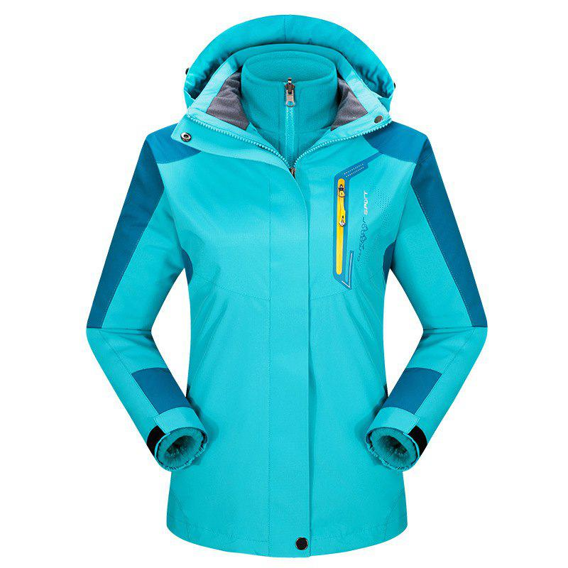 Best 2017 autumn and winter new two-piece jacket three-in-one waterproof plus cashmere outdoor jacket mountaineering jacket