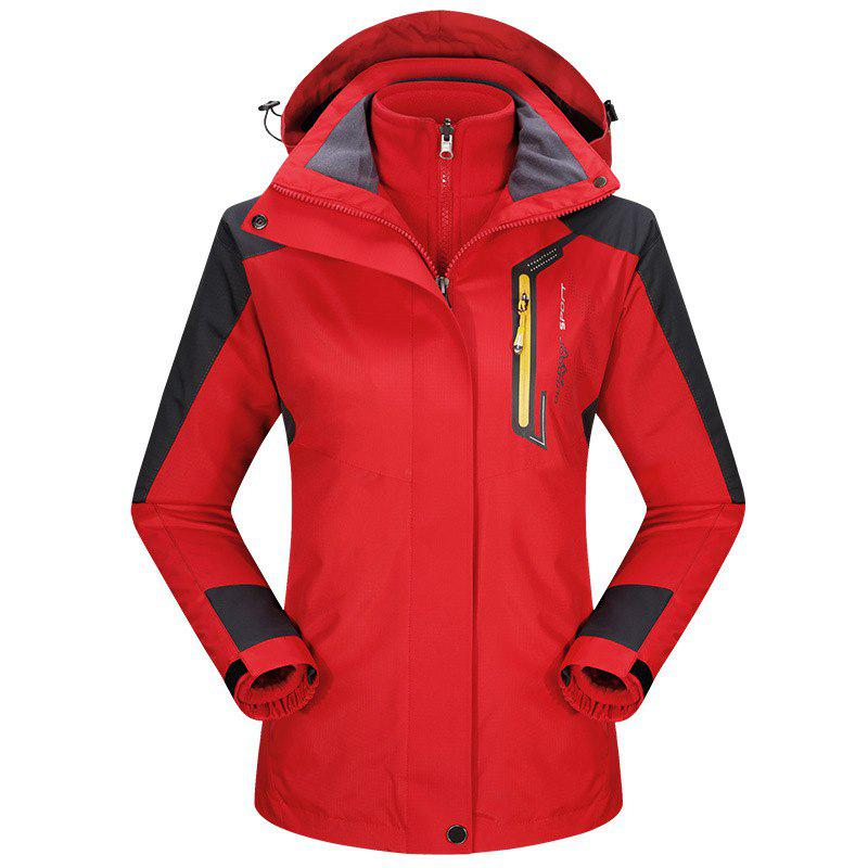 New 2017 autumn and winter new two-piece jacket three-in-one waterproof plus cashmere outdoor jacket mountaineering jacket