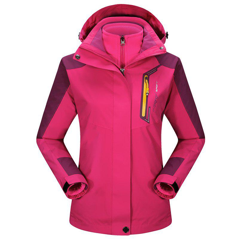 Outfits 2017 autumn and winter new two-piece jacket three-in-one waterproof plus cashmere outdoor jacket mountaineering jacket