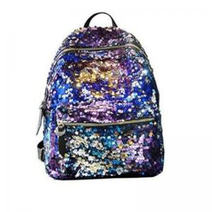 Women Sequins Backpack Fashion Casual Scholl Bag Purse Satchel Blue -