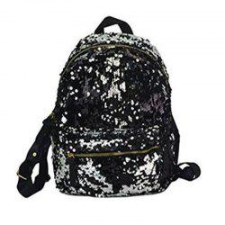 Women Sequins Backpack Fashion Casual Scholl Bag Purse Satchel Black -