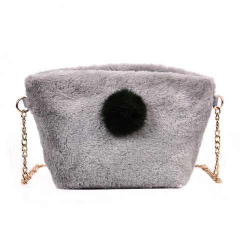 Best Small Square Bag Hair Ball Chain Shoulder Bag Cross Wild Package