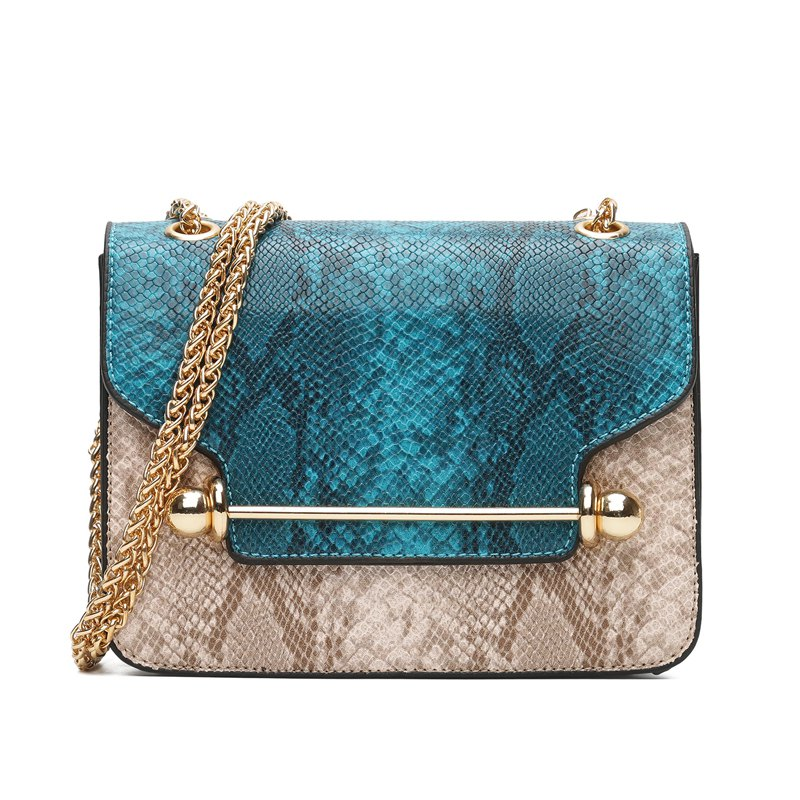 Outfit Snake Stripe Chain Hit Color Cross Messenger Bag Wild Small Square Package