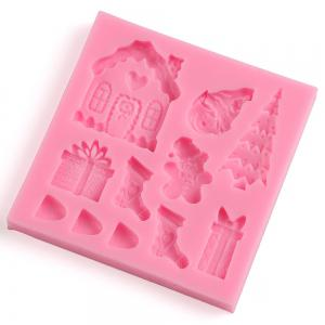 Facemile Cake Decorating Tool Fondant Silicone Chocolate Candy Mold Cake Tools Mold Christmas Santa Sugar Paste Kitchen -