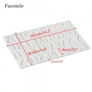 Facemile 3D DIY Letter Number Cake Tool Christmas Silicone Chocolate Mold Jelly Candy Pudding Mould Fondant Cake Decorating -