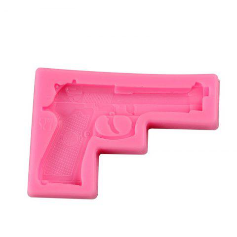 Hot Facemile Gun Pistol 3D Silicone Candy Clay Gum Sugar Chocolate Ice Mold Fondant Mold Cake Decorating Tool