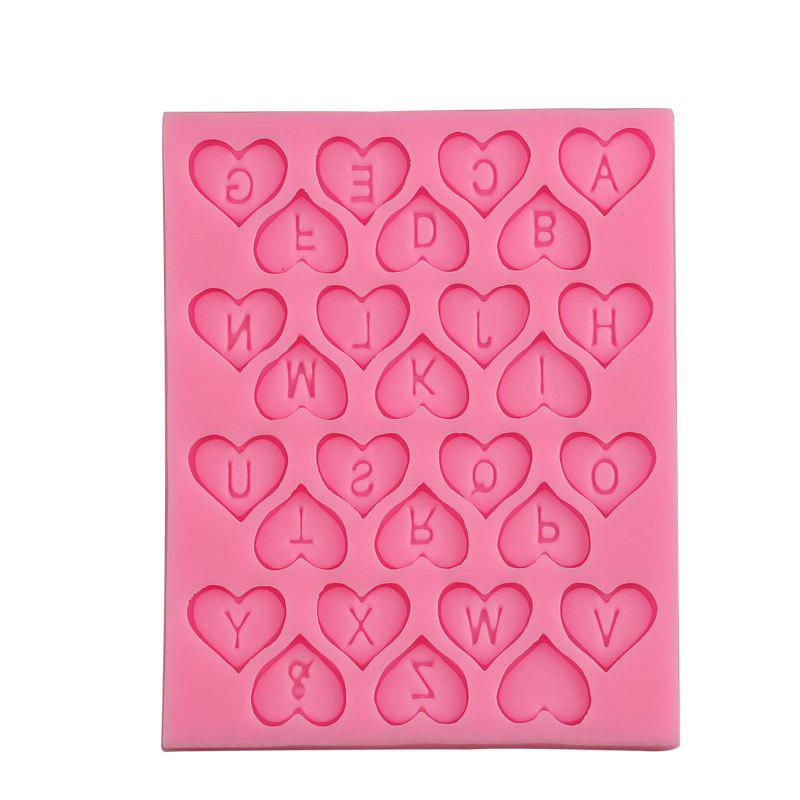 Sale Facemile DIY Heart Alphabet Letters Silicone Mold Party Cupcake Fondant Cake Decorating Tools Candy Chocolate Gumpaste Mold