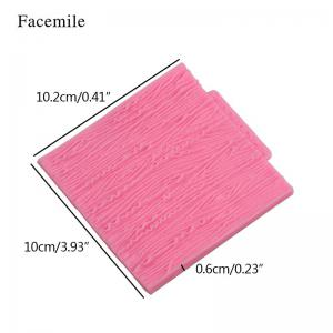 Facemile Tree Bark Line Texture Stripe Fondant Cake Mold Silicone Cake Lace Broder Mold For Kitchen Baking Decoration Tool -