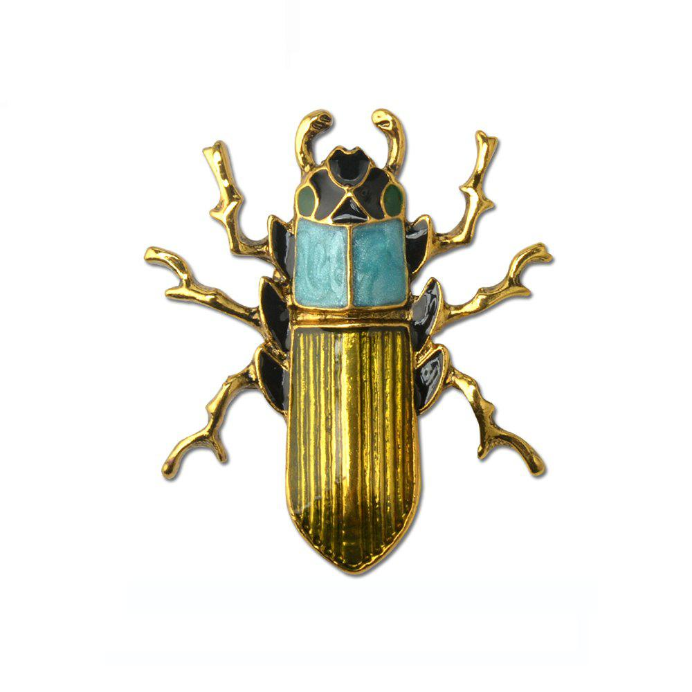 2019 Blue Enamel Bug Beetle Insect Brooch Pin Costume