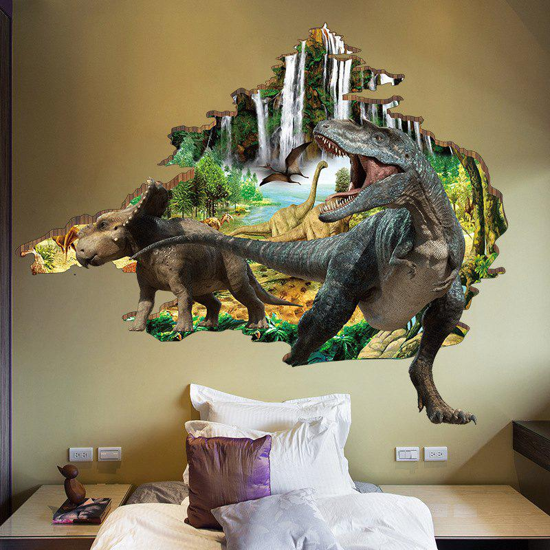 2019 3d dinosaur wall sticker mountain river waterproof wall decals