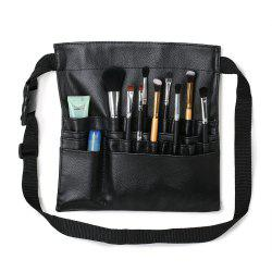 TODO Faux Leather Professional Cosmetic Brush Waist Bag Holder Belt 22 Pockets Organizer -