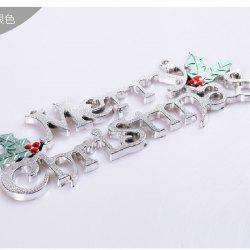 YEDUO 25cm Christmas Tree Decoration Ornaments Alphabet Letter Cards -