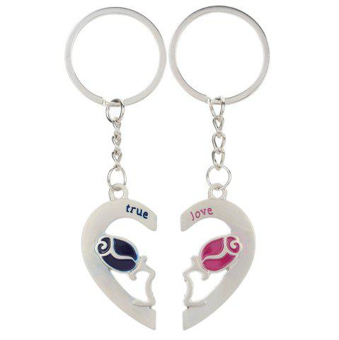 Outfit Heart-shaped rose Valentine's Day Keychain Favors Wedding Souvenirs men and women key ring Gifts