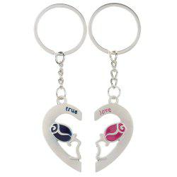 Heart-shaped rose Valentine's Day Keychain Favors Wedding Souvenirs men and women key ring Gifts -