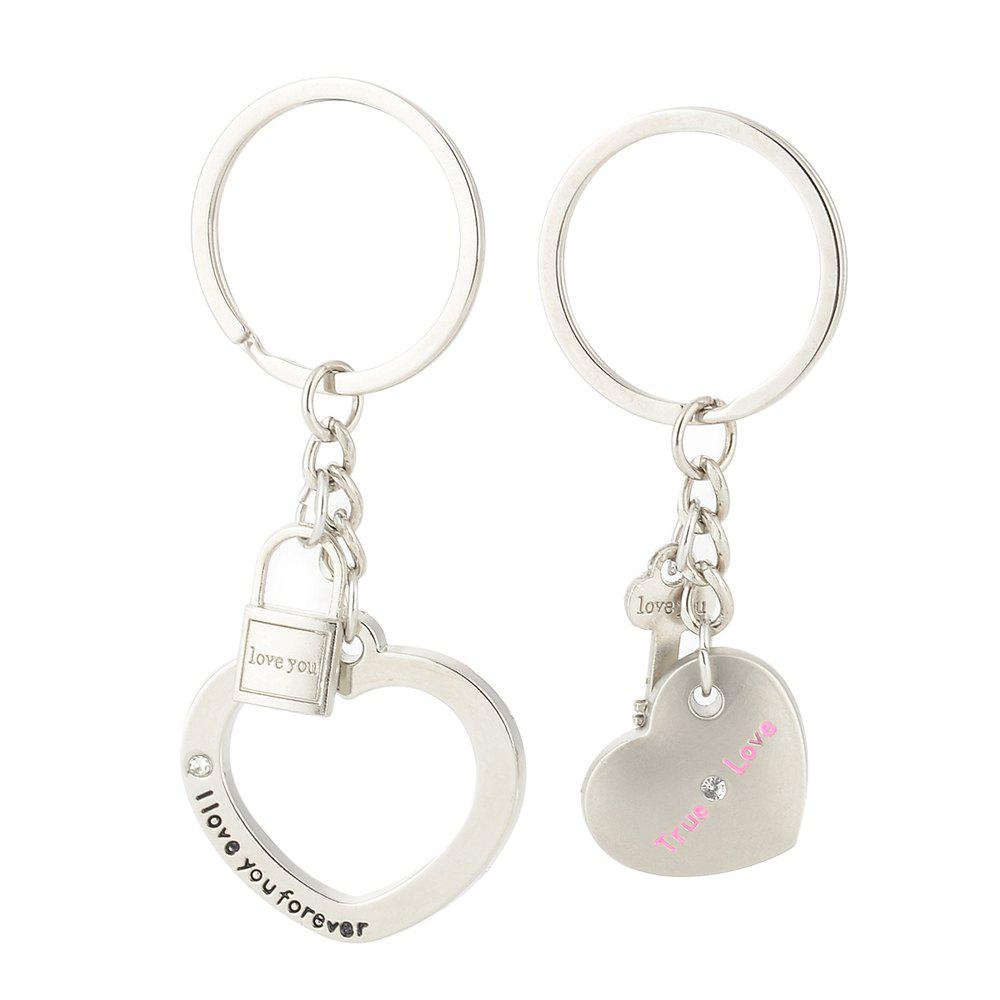 Cheap Heart-shaped Valentine's Day Keychain Favors Wedding Souvenirs men and women key ring Gifts