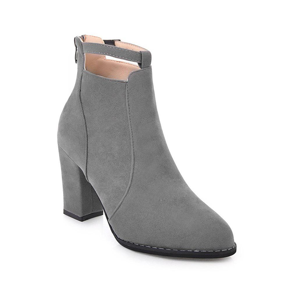 Latest Women Autumn Winter Sexy Fashion Mini Buckle Ankle Boots Waterproof Block Thick High Heel Shoes