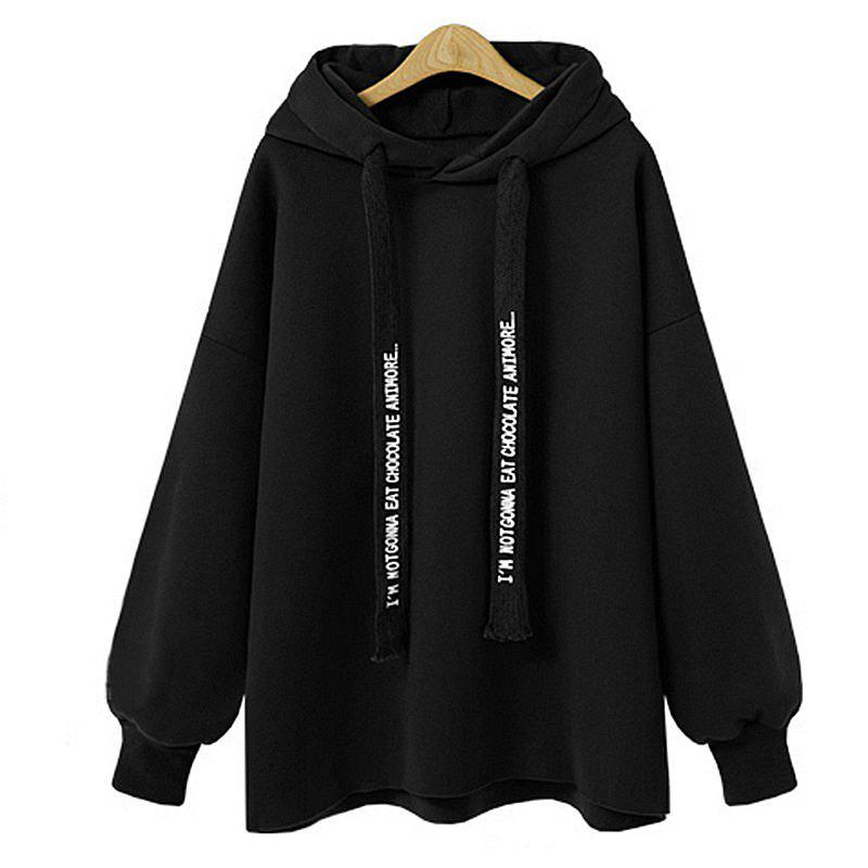 Affordable Comfortable and Stylish Loose Hooded Coat Female