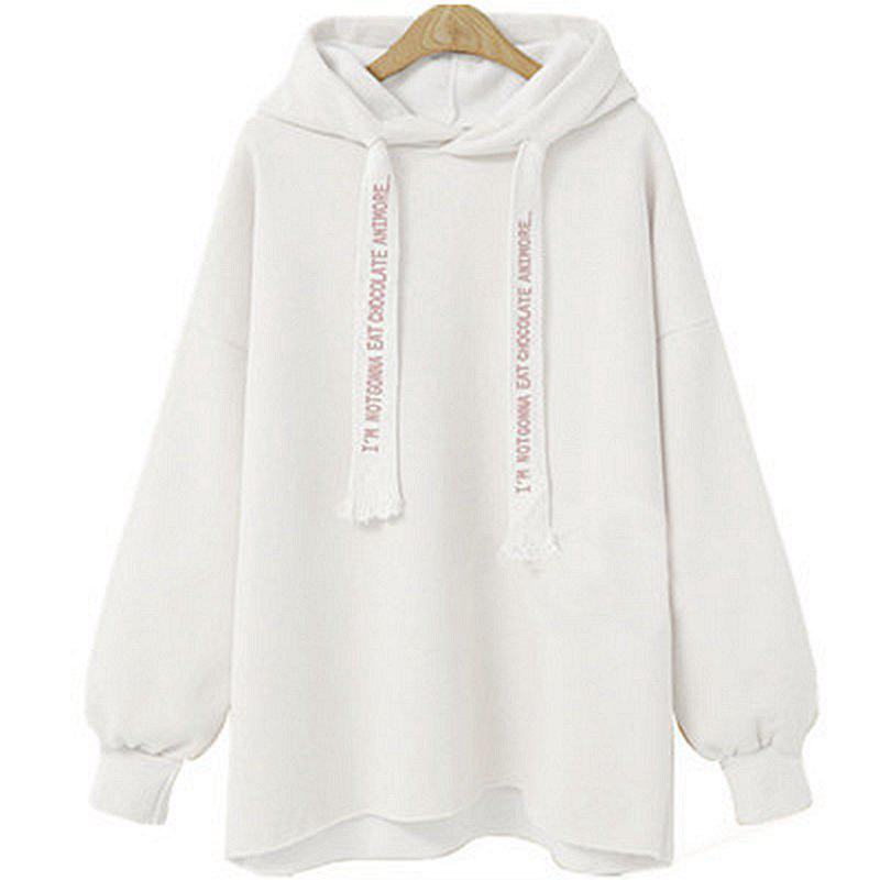 Trendy Comfortable and Stylish Loose Hooded Coat Female