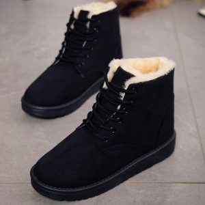Flat-bottomed Cotton And Snow Boots -