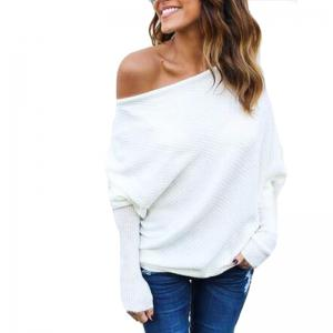 Sexy Off Shoulder Batwing Sleeve Sweater -