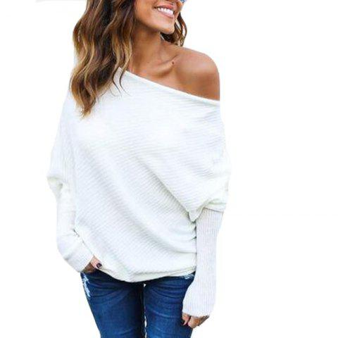 Hot Sexy Off Shoulder Batwing Sleeve Sweater