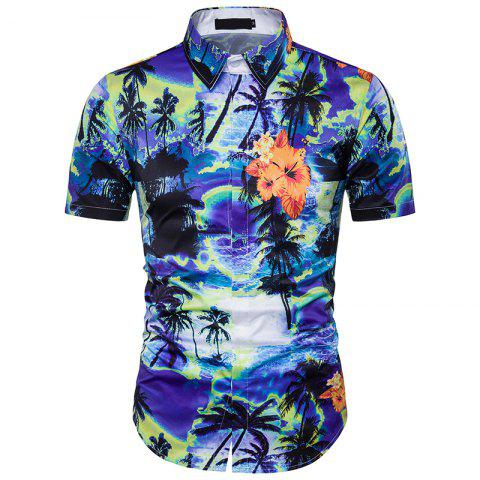 Hot New Men'S Floral 3D Printing and The Wind Shirt DC44