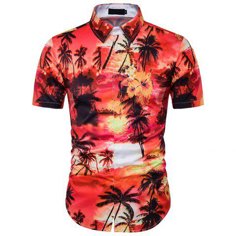 Trendy New Men'S Floral 3D Printing and The Wind Shirt DC44