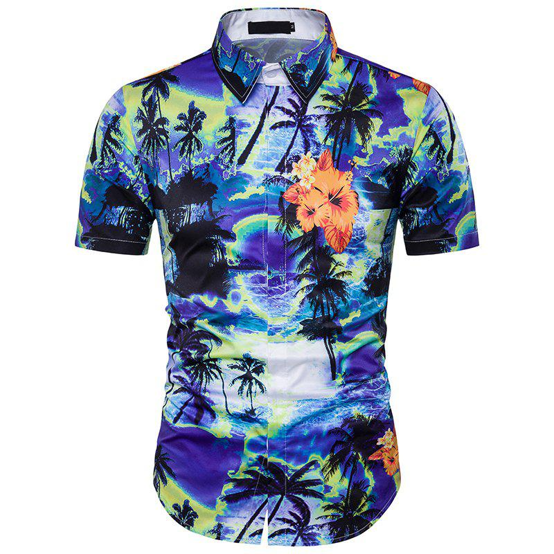 Shops New Men'S Floral 3D Printing and The Wind Shirt DC44