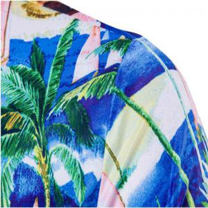 New Men'S Palm Tree 3D Printing Short Sleeved Shirts -