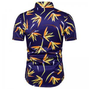 Hot Summer New Men'S Short Sleeved Beach Shirt -