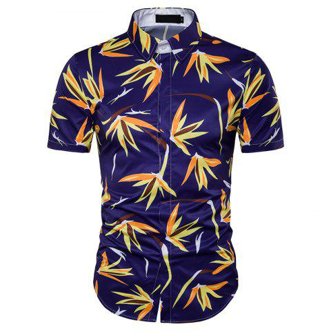 Sale Hot Summer New Men'S Short Sleeved Beach Shirt