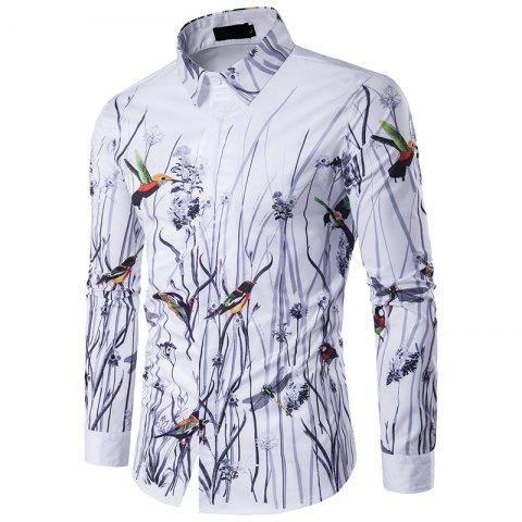 Chic The New Spring Flowers 3D Men'S Personality Stamp Polo Shirt C243