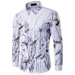 The New Spring Flowers 3D Men'S Personality Stamp Polo Shirt C243 -