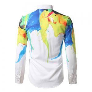 The New Spring Fashion Color Printing Men'S Shirt DC68 -