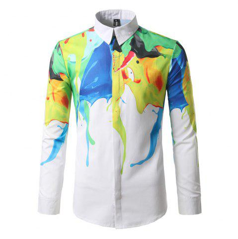 Sale The New Spring Fashion Color Printing Men'S Shirt DC68