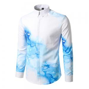 The New Spring Fashion Digital Printing Leisure Male Self-Cultivation Shirt DC67 -