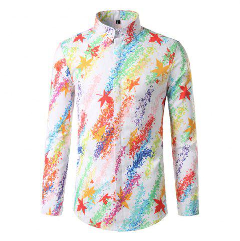 Discount Foreign Trade Men'S Color Digital Printing Leisure Body Repair Long Sleeved Shirt DC62