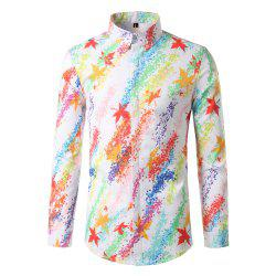 Foreign Trade Men'S Color Digital Printing Leisure Body Repair Long Sleeved Shirt DC62 -