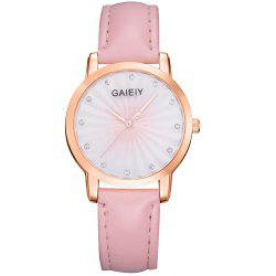GAIETY Women's Two Tone Face Pu Band Quartz Watch G438 -