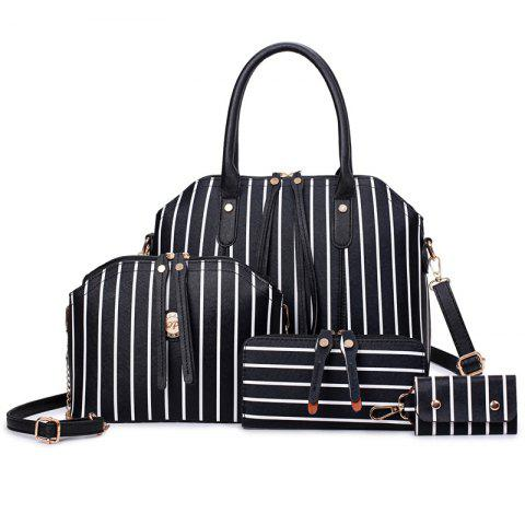 Unique Fashion Seashells Mother Pack Four Pieces of Striped Handbag
