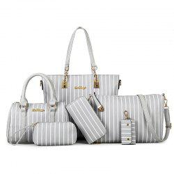 Striped Handbags Shoulder Bag Messenger Bag Handbag Child Six Pieces -