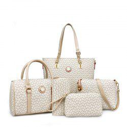 Fish Bone Pattern Mother Bag Five Ladies Handbag Shoulder Bag -