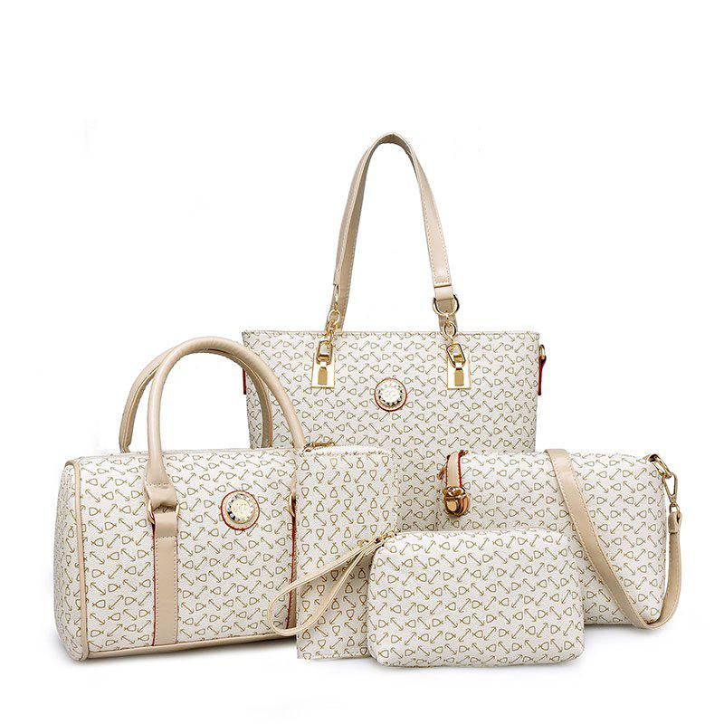 Shops Fish Bone Pattern Mother Bag Five Ladies Handbag Shoulder Bag